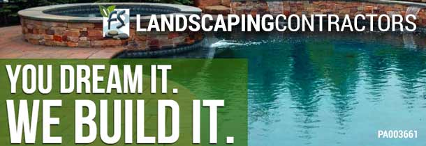 FS Landscaping Contractors, Inc. specializes in design and building inground swimming pool. We provide service in all phases of pool building from hardscaping & masonry to landscaping,copings, waterfalls, pavilions, outdoor kitchens, fence, storm water management and more? Visit our garden center at Froehlich's Farm in Furlong, PA. PA#003661, NJ#13H05143700.