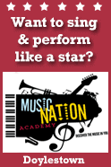 At Music Nation Academy, you can choose one-on-one private voice, guitar, bass, and piano lessons and/or the group vocal performance class. In all voice classes students will learn: Proper vocal techniques, basic music theory, the importance of harmony and movement, the art of performance and stage presence, important audition techniques, and what vocal style and range are best for you. Our piano and guitar instructors offer a wide range of training and playing options as well. All students build their confidence and experience of live performance by receiving opportunities to perform with a live professional band at performance venues throughout Philadelphia and the local area. We offer great prices and a talented staff of actively performing professionals.